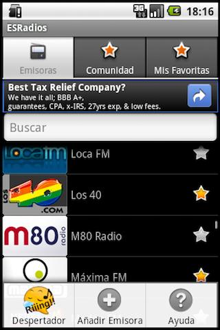 ESRadios - screenshot
