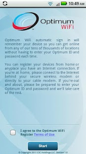 Optimum WiFi Register - screenshot thumbnail