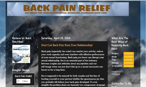 Get Fresh Back Pain Facts