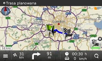 Screenshot of Navigation MapaMap Europe