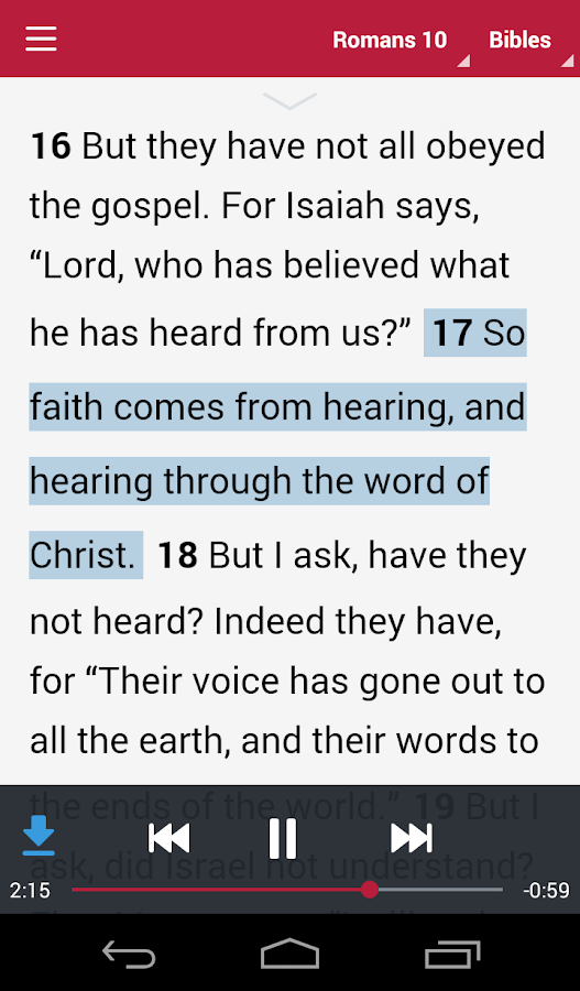 Bible: Dramatized Audio Bibles- screenshot