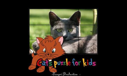 对儿童的猫拼图