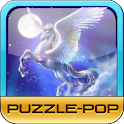 Puzzle-Pop: Mythical Horse logo