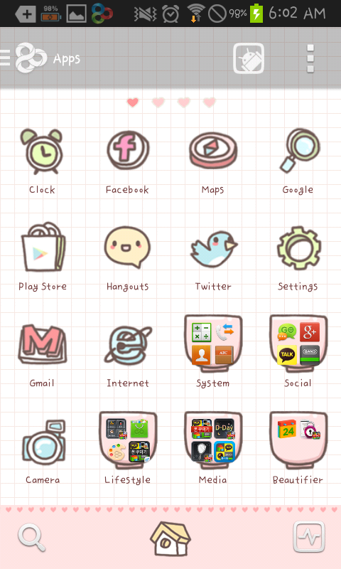Cups go launcher theme - screenshot