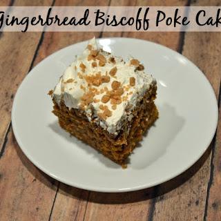 Gingerbread Biscoff Poke Cake