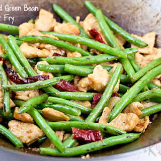 Chicken and Green Beans Stir Fry.