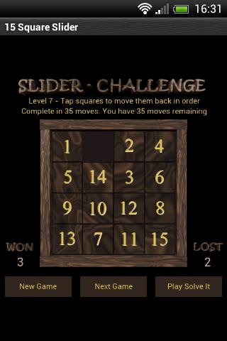 15 Square Slider