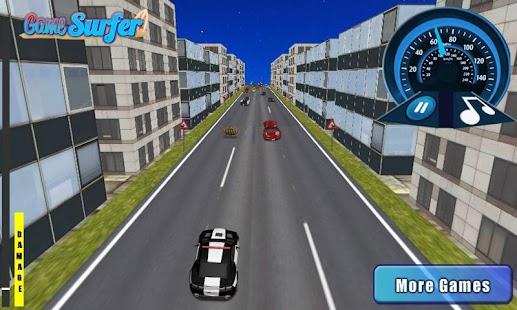 3D警車運行