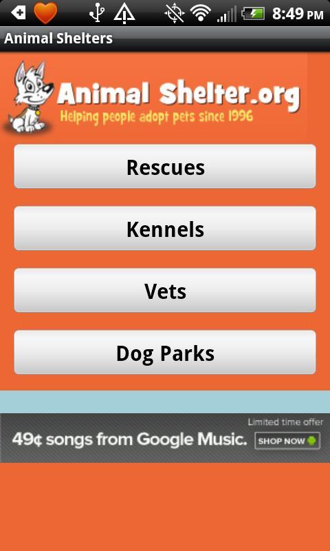 Animal Shelter- screenshot