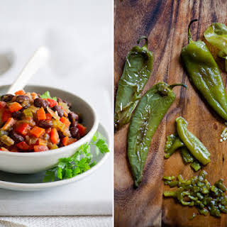 Vegetarian Chili Recipe with Roasted Chiles.
