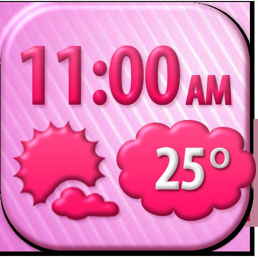 Romantic Weather Clock Widget