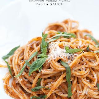 Heirloom Tomato and Basil Pasta Sauce.