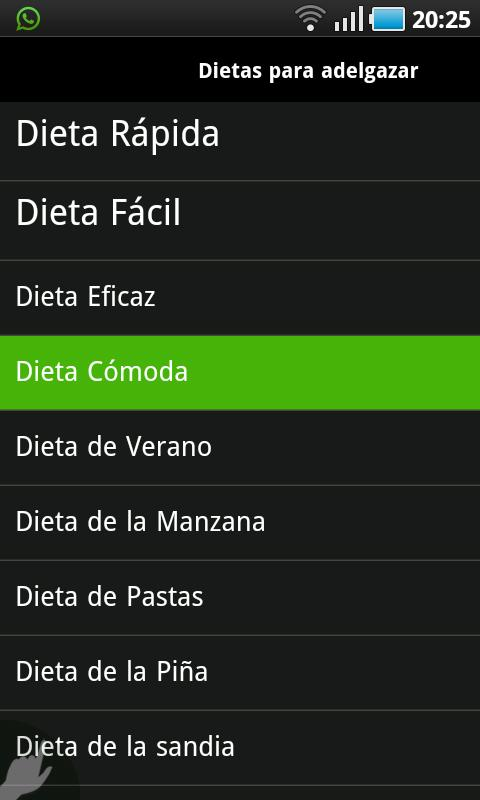 Dietas - screenshot