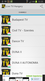 Live TV Hungary - screenshot thumbnail