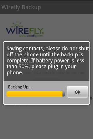 Wirefly Backup - screenshot