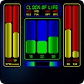 Clock of Life (space) LWP icon