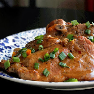Smothered Creole Slow Cooker Pork Chops.