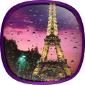 Rainy Paris Live Wallpaper icon