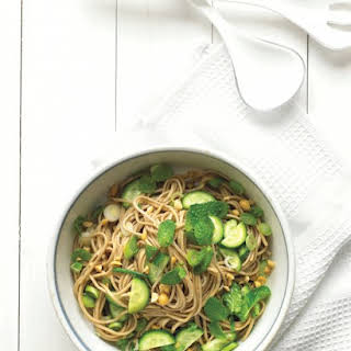 Asian Noodle Salad with Peanuts and Mint.