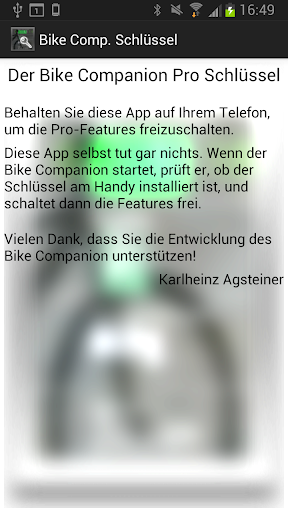 The Bike Companion Pro Key
