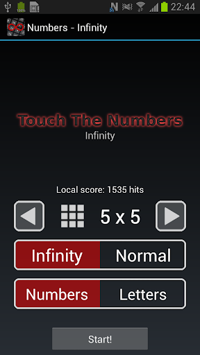 Touch The Numbers - INFINITY