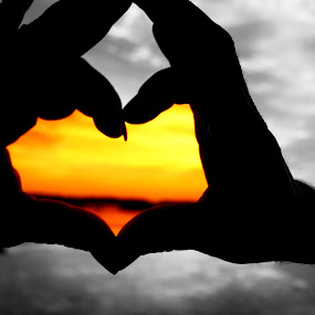 Love by Toni Haas - Landscapes Sunsets & Sunrises ( love, heart, sunset )