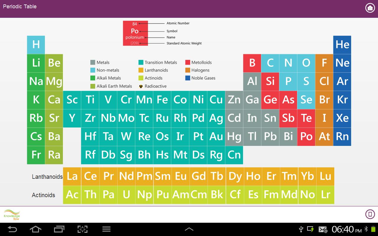 New periodic table google app google periodic table app table screenshot periodic urtaz Image collections