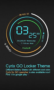 Cyrix GO Locker Theme - screenshot thumbnail