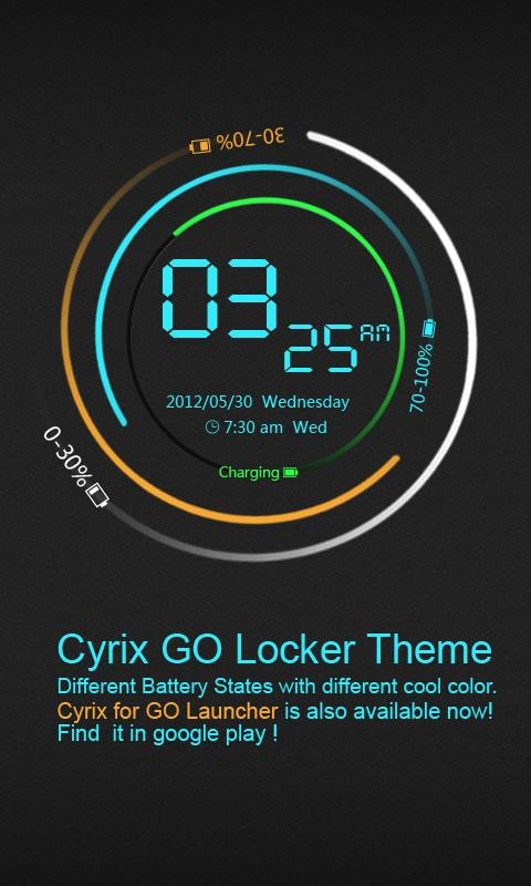 Cyrix GO Locker Theme - screenshot