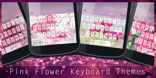 Pink Flower Keyboard Themes