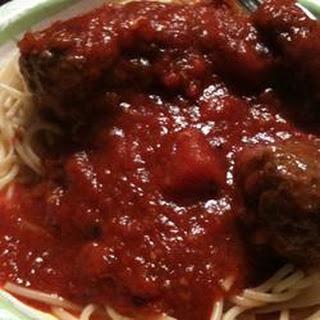 Quick Spaghetti Sauce.