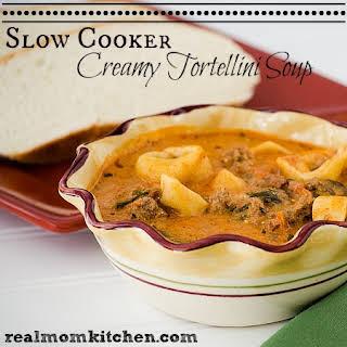 Slow Cooker Creamy Tortellini Soup.