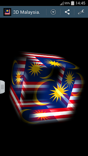 3D Malaysia Cube Flag LWP