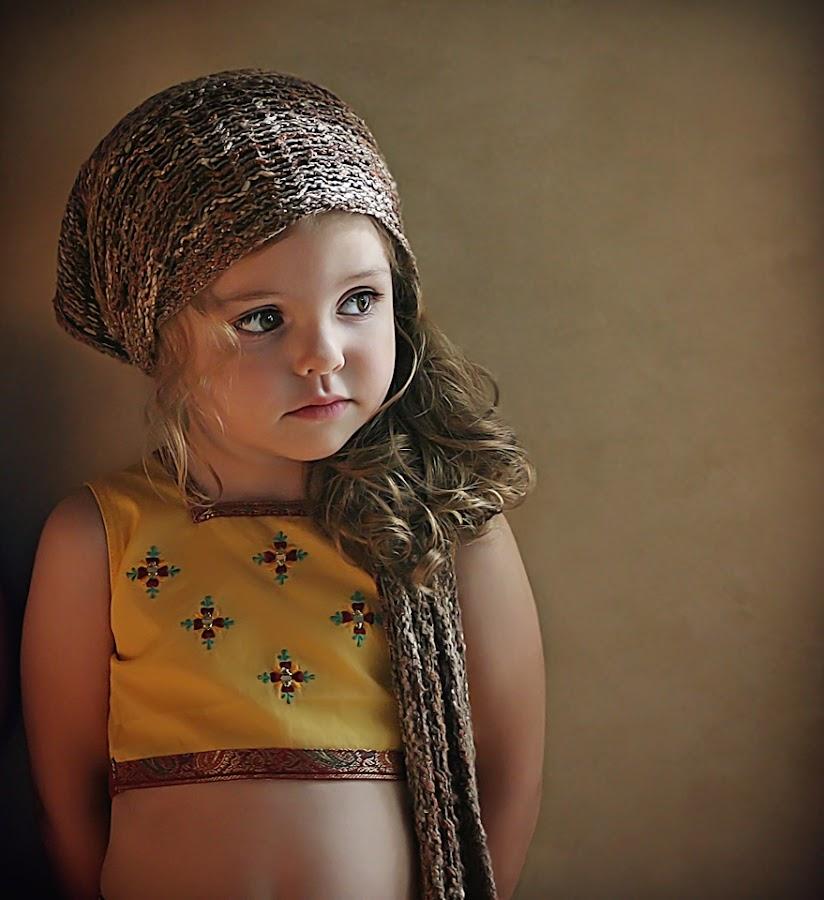 Kali by Danica Sherry - Babies & Children Child Portraits ( natural light, warm light, girl, children, child portrait, sari,  )