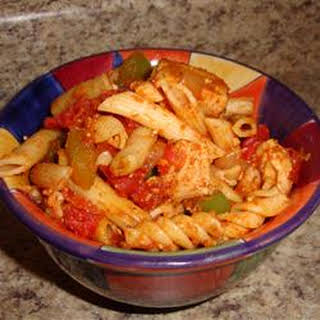 Quick and Easy Chicken and Tomato Pasta.