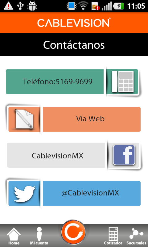 Cablevision móvil - screenshot