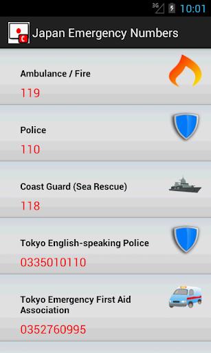 Japan Emergency Numbers
