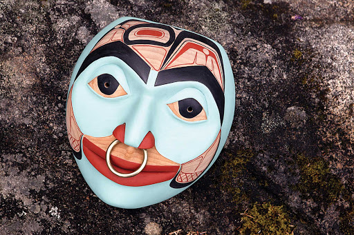 mask-Glacier-Bay - A native mask in Glacier Bay National Park.
