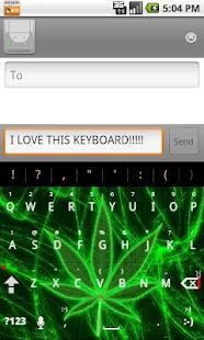 Pot Leaf Keyboard FREE! - screenshot thumbnail