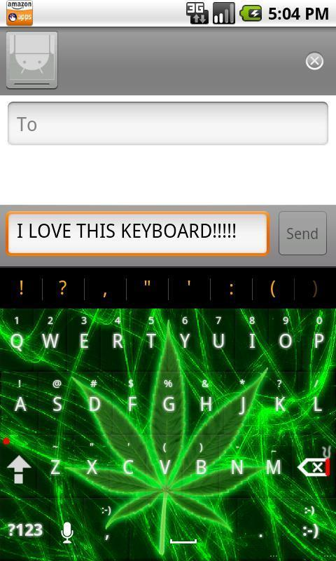 Pot Leaf Keyboard FREE! - screenshot