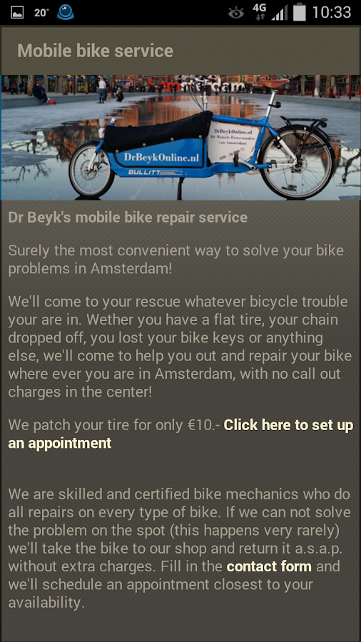 DrBeyk's mobile bike service- screenshot