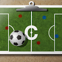 Soccer coach's clipboard logo
