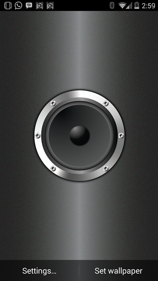 Live Wall Speaker (Wallpaper)- screenshot