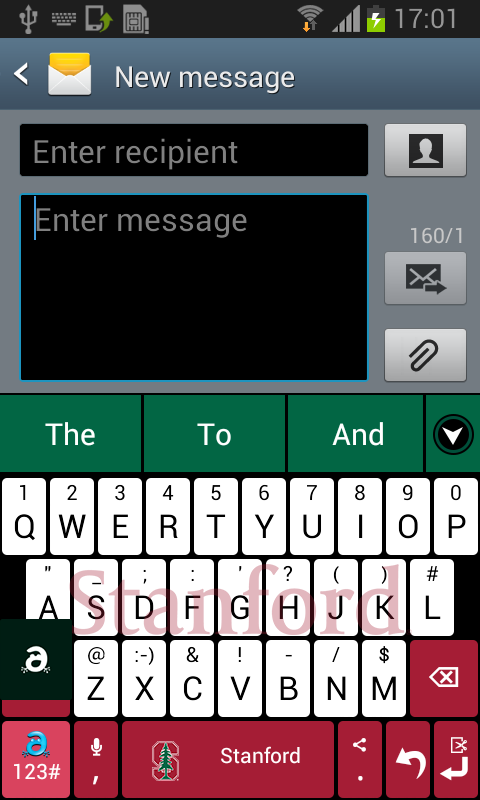 Stanford Keyboard - screenshot