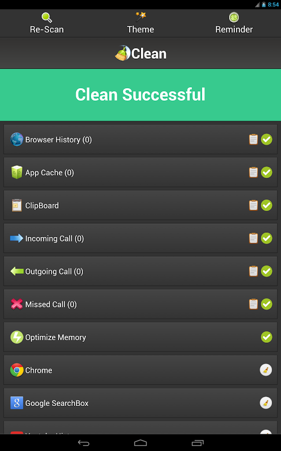 Clean History - Optimize- screenshot