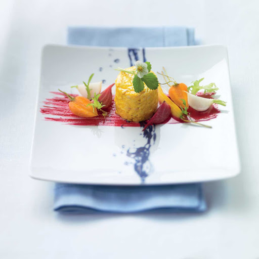 Blu Pickled Beet Salad - The pickled beet salad in Blu restaurant aboard Celebrity Cruises.
