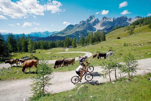 mountainbiking-near-filzmoos - Mountain biking near Filzmoos in the Salzburg Province of Austria.