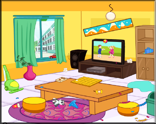 Princess Home Cleanup Game