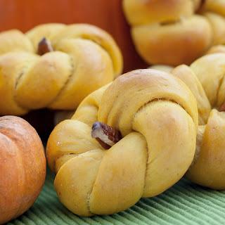 Pumpkin Dinner Rolls.