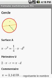 Formules mathématiques - screenshot thumbnail